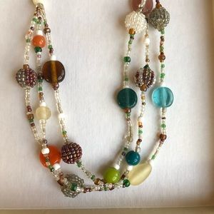 ⛄️4/$20⛄️ Colorful beaded 3-strand necklace